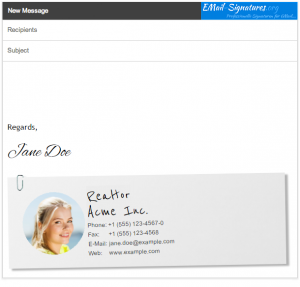GMail Realtor Signature