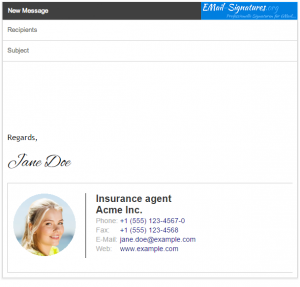 Insurance agent GMail signature